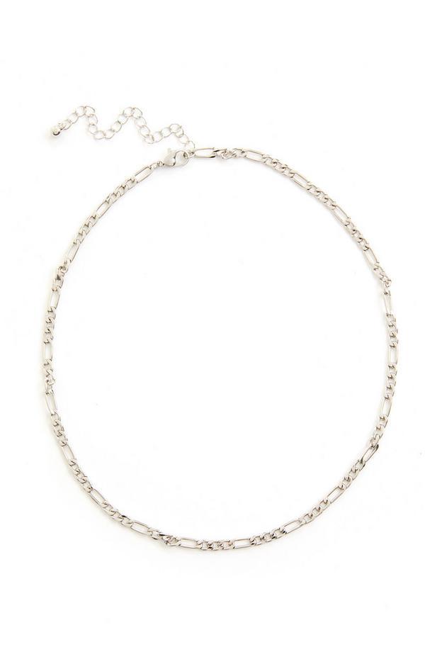 Collana delicata a catena barbazzale color argento