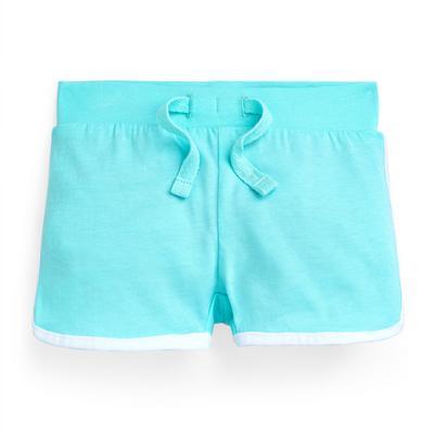 Baby Girl Blue Tie Waist Shorts