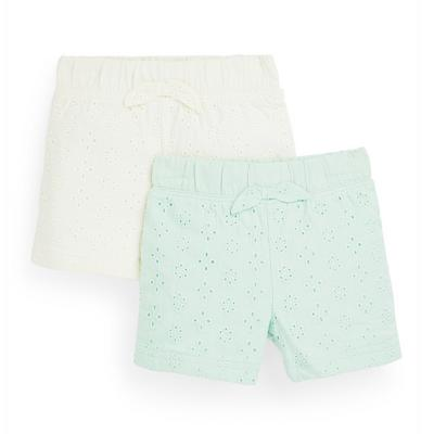 Baby Girl Broidery Shorts 2 Pack