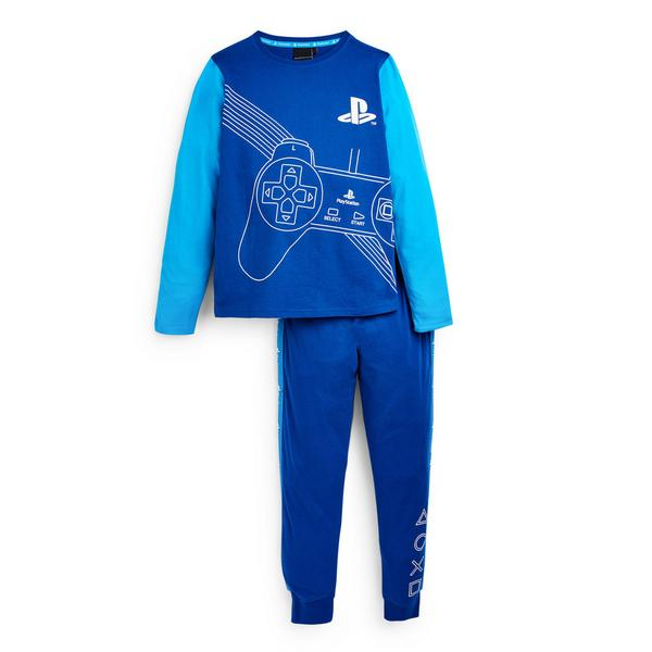 Older Boy Blue Playstation Pyjamas Set