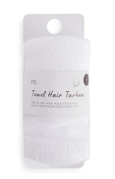 PS White Towel Hair Turban