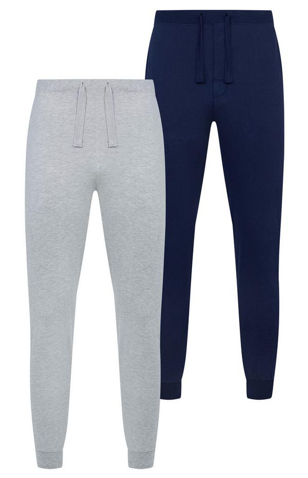 Leggings aus Jersey in Marineblau und Grau, 2er-Pack