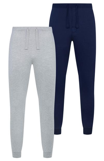 Navy And Grey Jersey Leggings 2 Pack