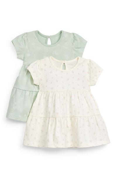 Baby Girl Jersey Dresses 2-Pack