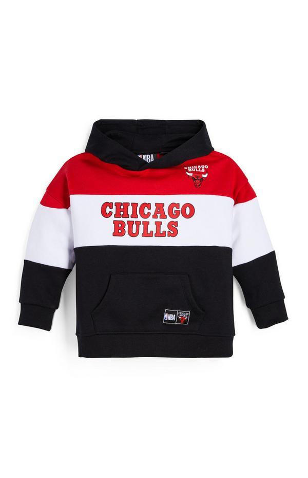Felpa nera con cappuccio NBA Chicago Bulls da bambino
