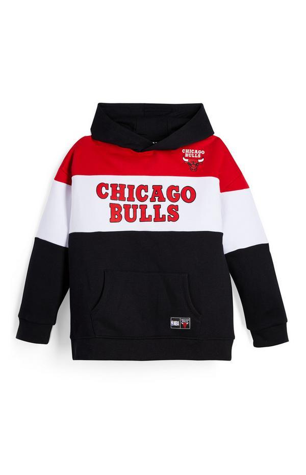 Felpa nera con cappuccio NBA Chicago Bulls da ragazzo