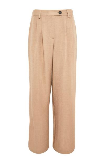 Camel Pleated Utility Pants