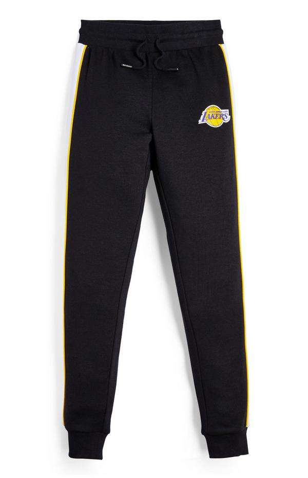 Zwarte joggingbroek NBA LA Lakers voor jongens