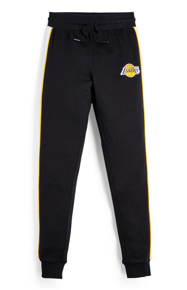 Črne hlače za prosti čas NBA LA Lakers za starejše fante