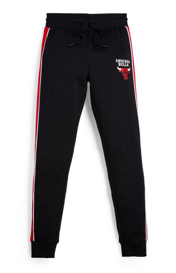 Zwarte joggingbroek NBA Chicago Bulls voor jongens
