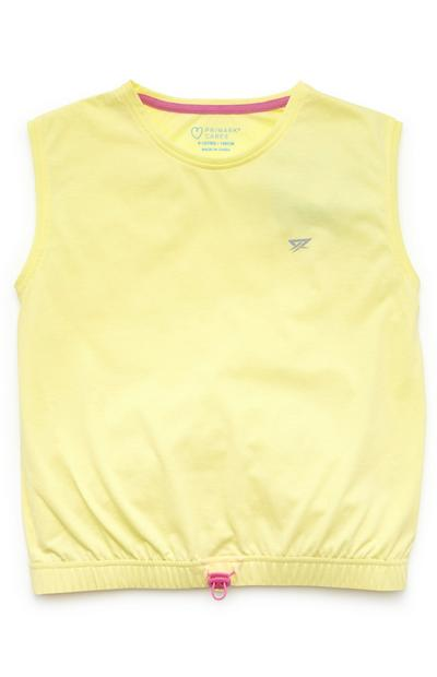 Older Girl Yellow Active Sleeveless Vest