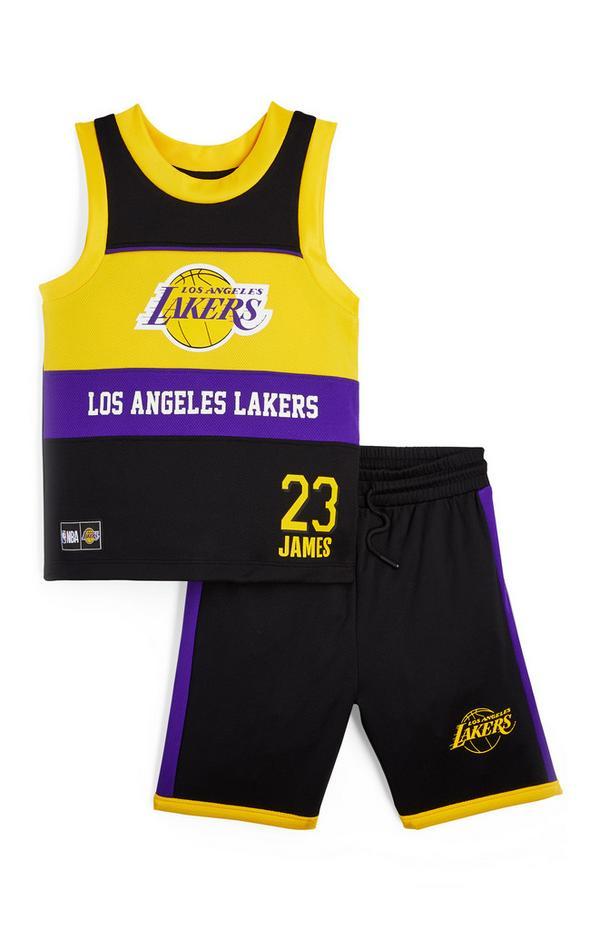 Conjunto de camiseta sin mangas y pantalón corto de Los Angeles Lakers de la NBA para niño pequeño