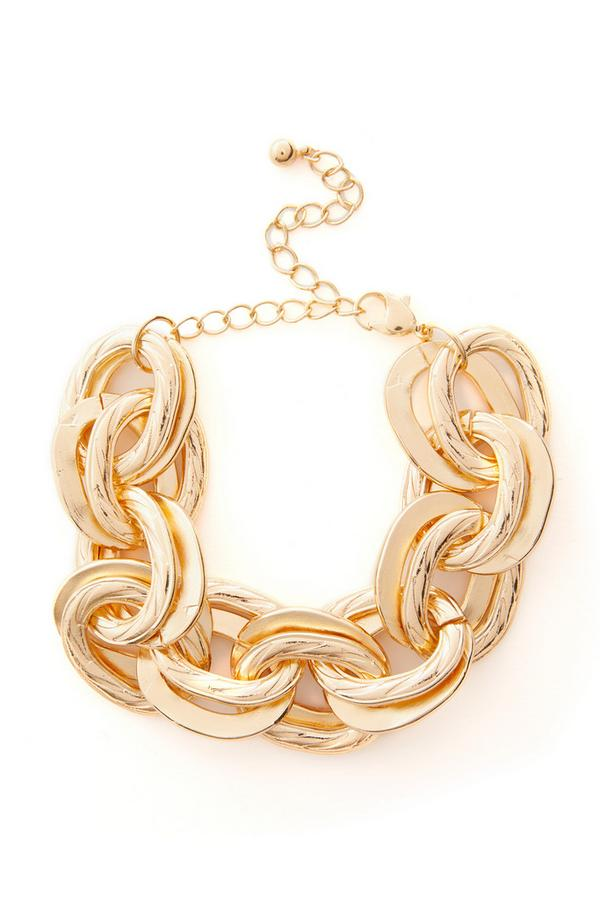 Large Goldtone Link Chunky Chain Bracelet