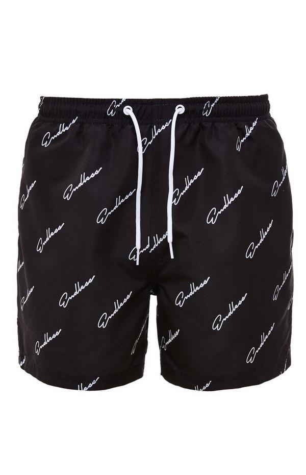 "Schwarze ""Endless"" Shorts mit Kordelzug"