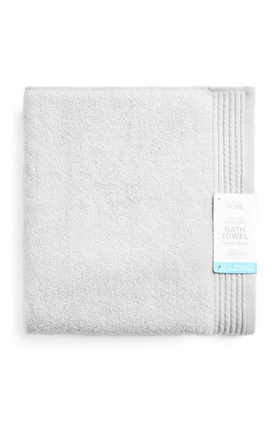 Serviette de bain argentée ultra-douce