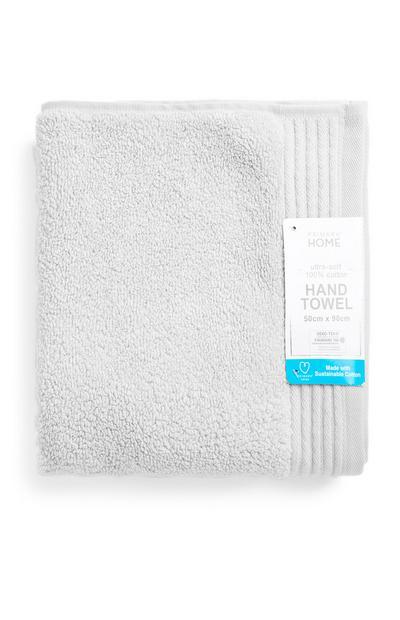 Weißes ultraweiches Handtuch