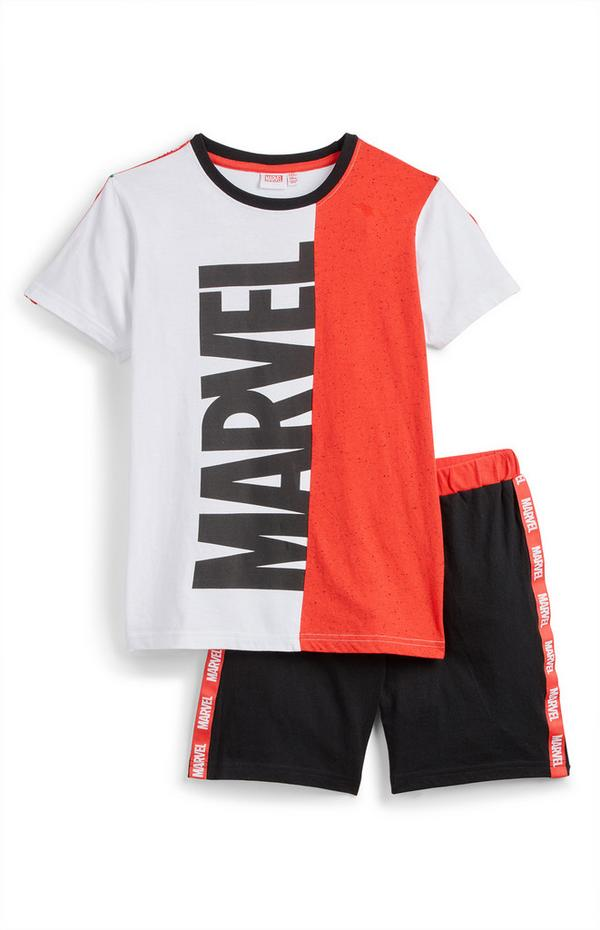 Older Boy Marvel T-Shirt And Shorts Set