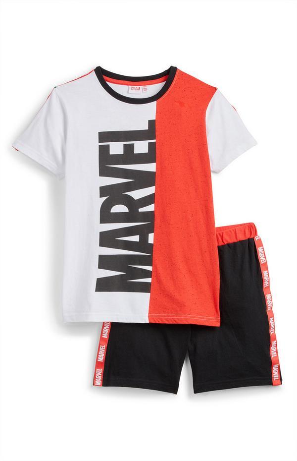 Conjunto t-shirt/calções Marvel rapaz