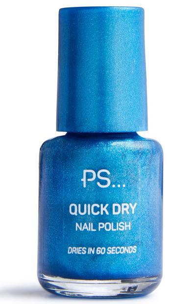Blue Glitter Mini Fast Dry Nail Polish
