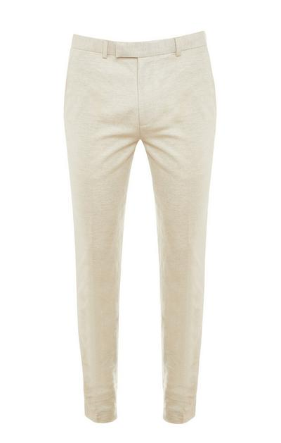 Premium Ecru Cotton Linen Trousers