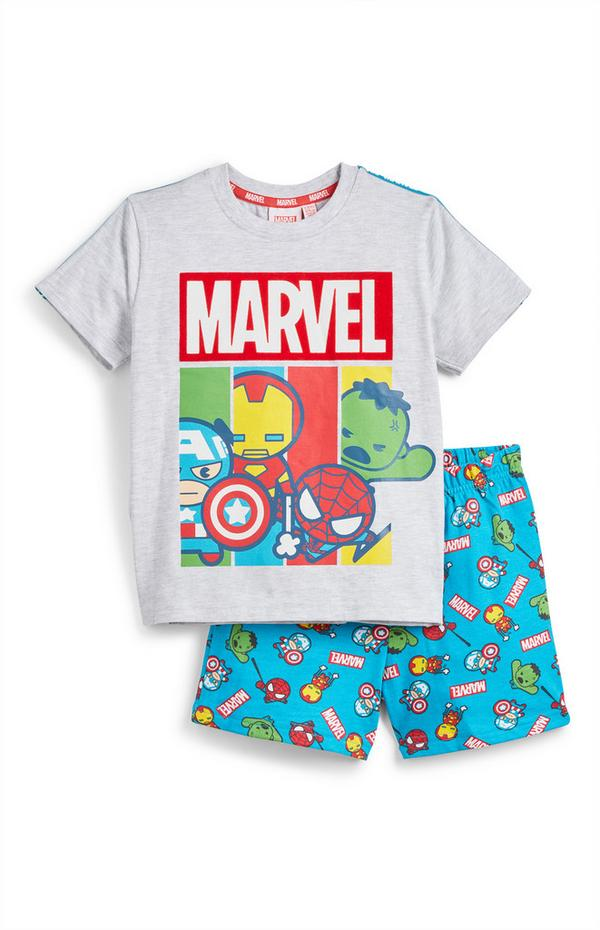 Komplet majice in kratkih hlač Marvel Maščevalci za mlajše fante