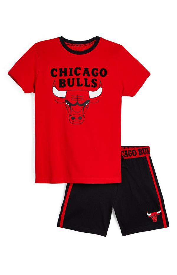 Conjunto de camiseta y pantalón corto de los Chicago Bulls de la NBA para niño mayor
