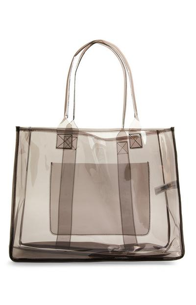 Large Black Perspex Shopper Bag