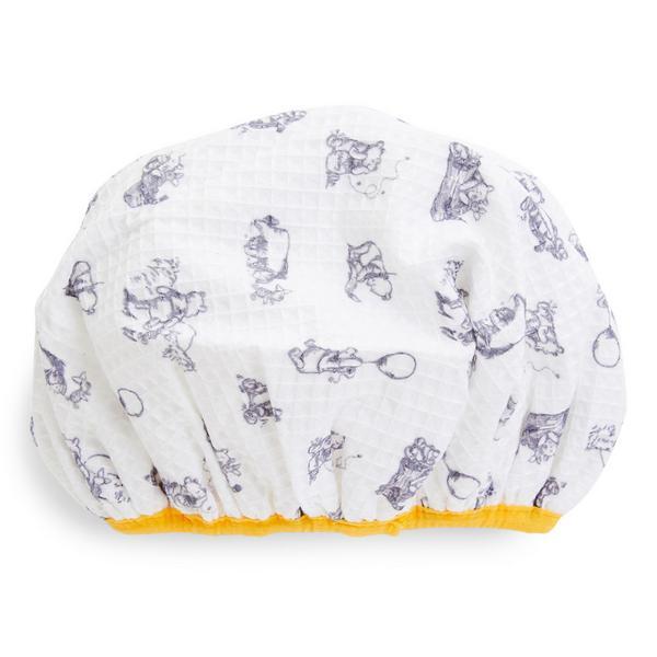 White Winnie The Pooh Shower Cap