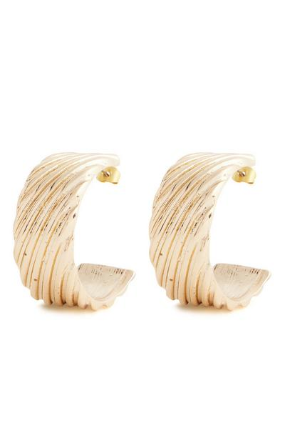 Goldtone Extra Chunky Midi Hoop Earrings