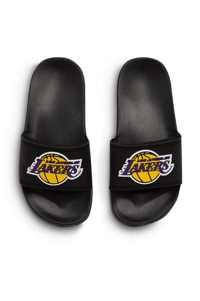 Older Boy Black NBA LA Lakers Sliders