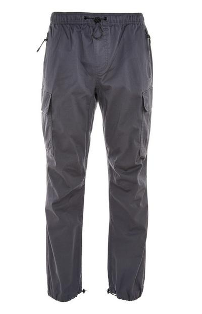 Gray Lightweight Cuffed Cargo Pants