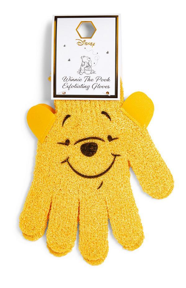 Gants jaunes exfoliants Winnie l'ourson