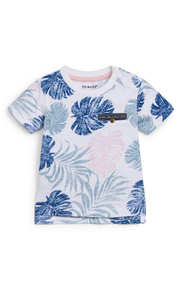 Baby Boy Pastel Leaf Print T-Shirt