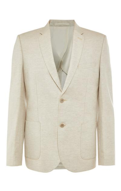 Premium Ecru Cotton Linen Suit Jacket