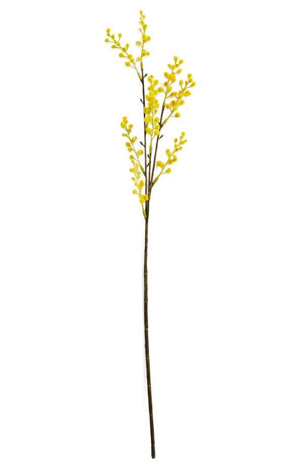 Einzelner, künstlicher Mimosen-Dekozweig