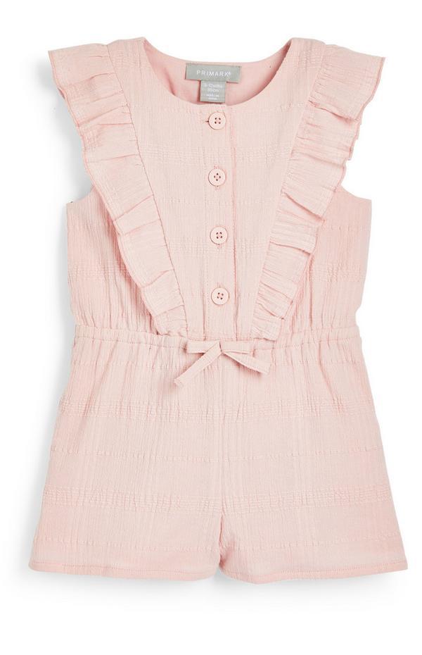 Baby Girl Pink Ruffle Playsuit