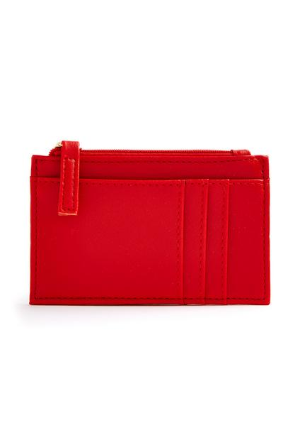 Red Smooth Cardholder