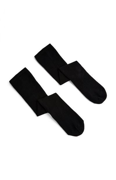 Black Knee High Socks 2 Pack