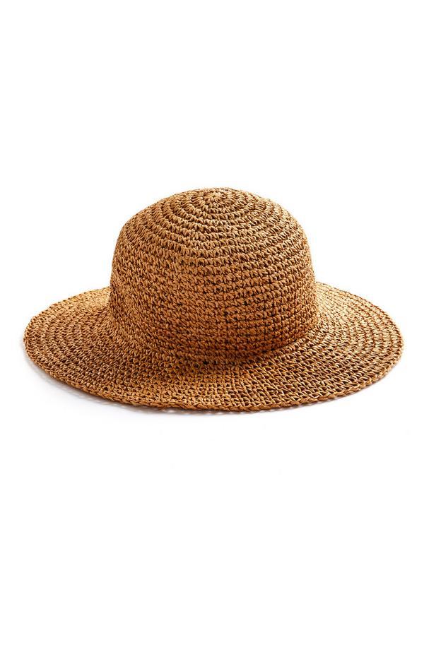 Woven Straw Bucket Hat