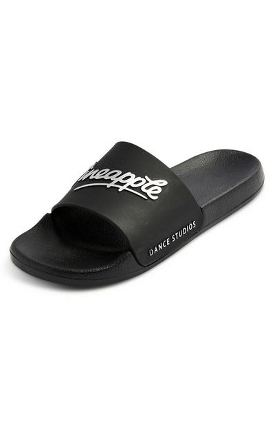 Black Pineapple Slides