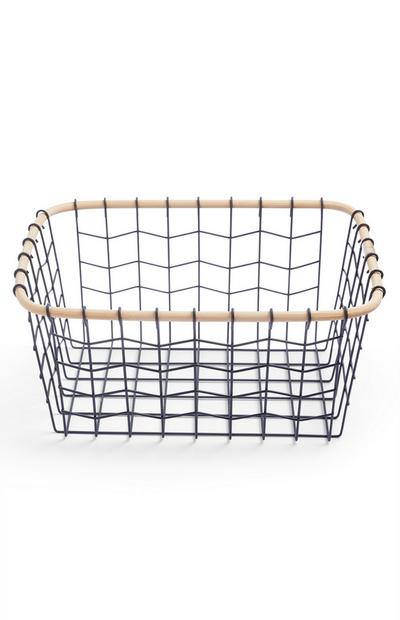 Medium Wood Wire Basket