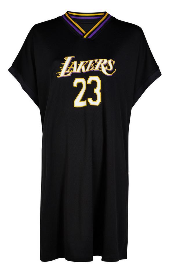 Robe noire en jersey NBA LA Lakers