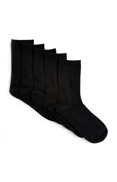 Črne nogavice, 5 parov