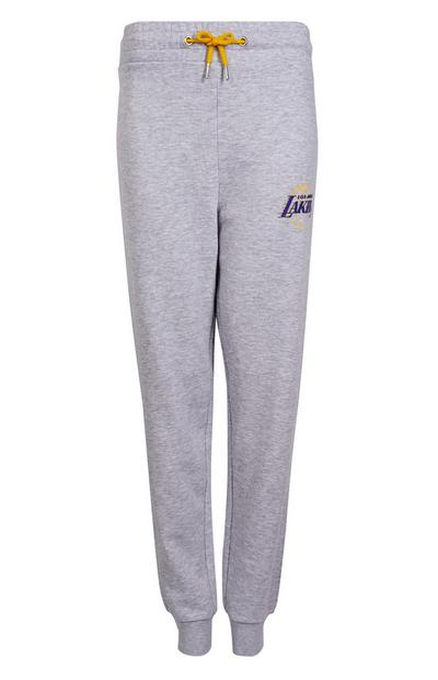 Pantalón de chándal gris de Los Angeles Lakers de la NBA