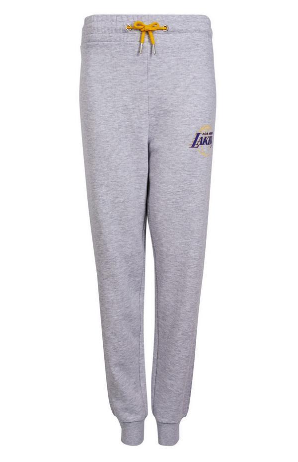 Pantalón de chándal gris de Los Angeles Lakers de la NBA