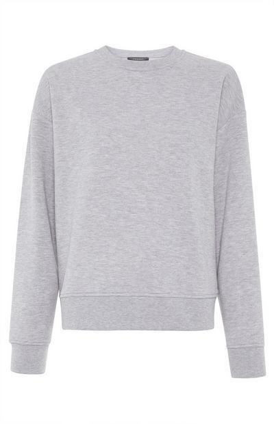 Sweat-shirt gris uni