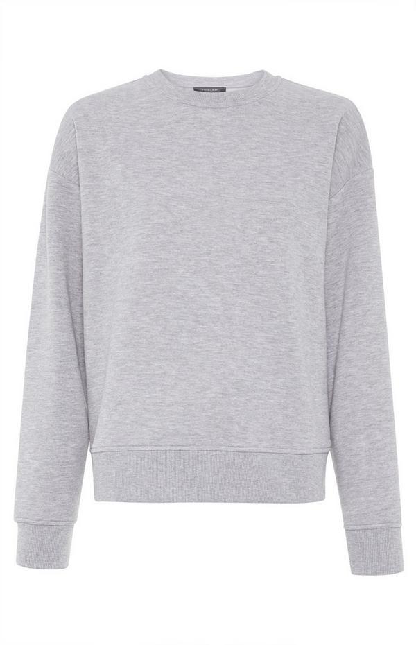 Plain Gray  Sweater