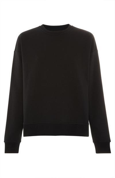 Sweat-shirt noir uni