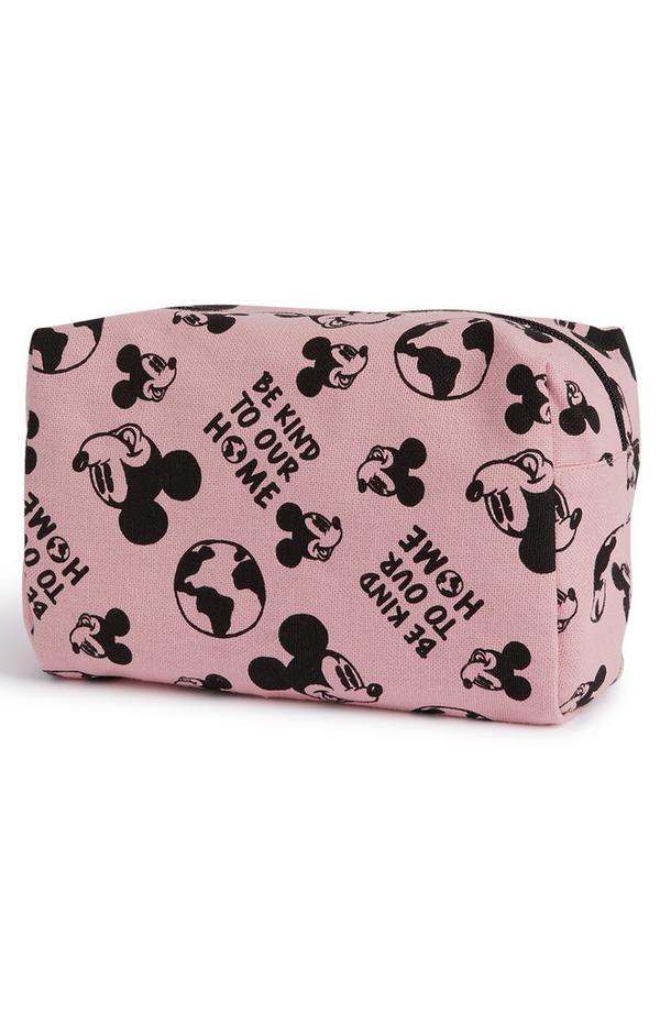 Bolsa maquilhagem Disney Mickey Primark Cares cor-de-rosa