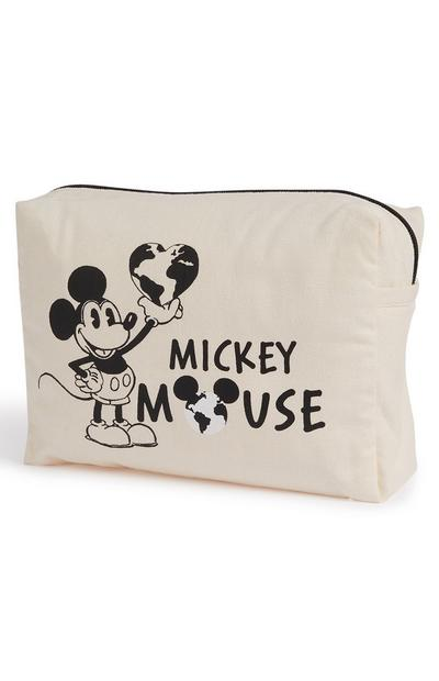 "Cremefarbene ""Primark Cares featuring Disney Mickey"" Make-up-Tasche"